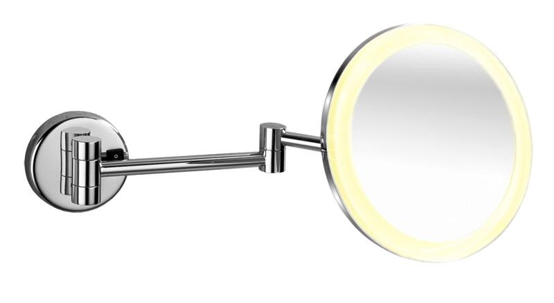 Kosmetické zrcátko LED osvětlením nástěnné, kulaté 20 cm ( KZZAVLEDO )