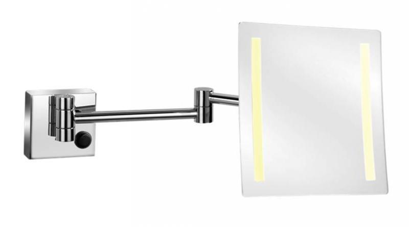 Kosmetické zrcátko s LED osvětlením nástěnné, hranaté (KZZAVLEDH)