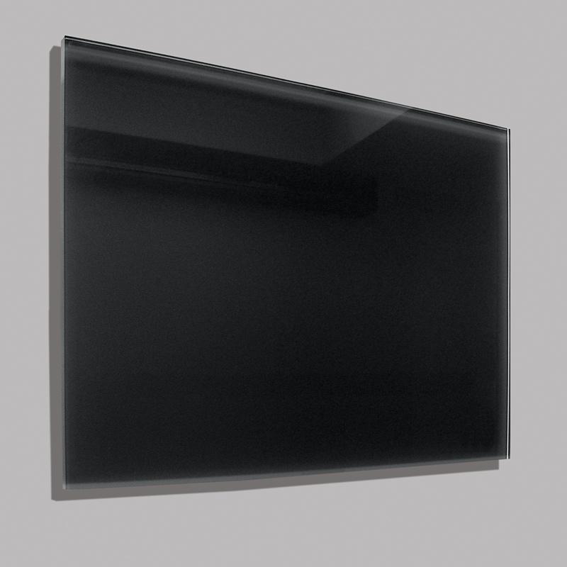 Skleněný elektrický topný panel 90 x 60 cm černý