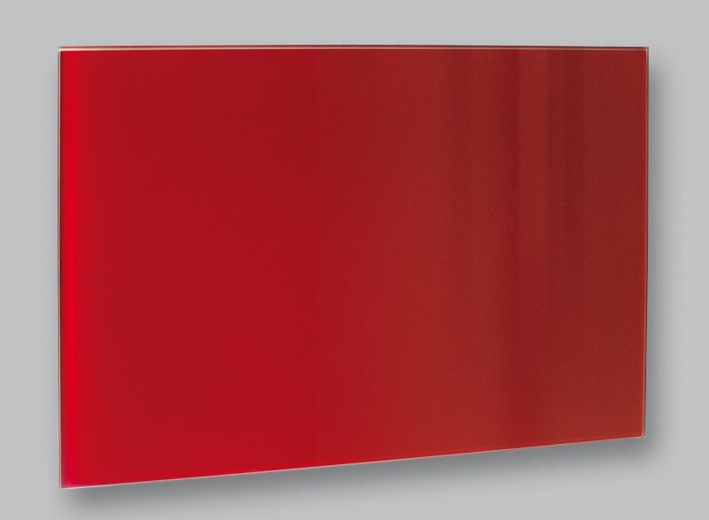 Skleněný elektrický topný panel 90 x 60 cm červený