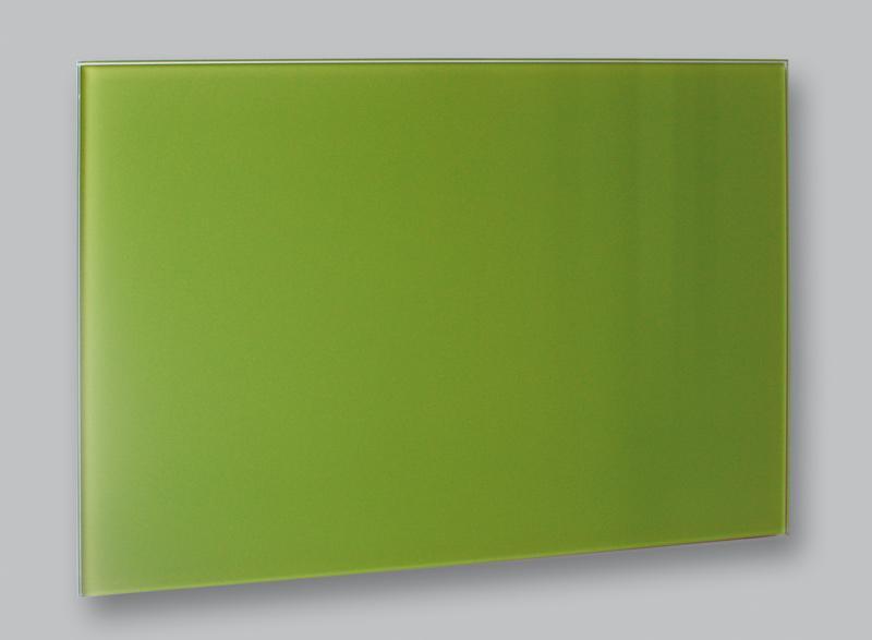 Skleněný elektrický topný panel 90 x 60 cm zelený