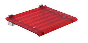 LEO sprchové sedátko 40x31cm, červená ( 5368R )